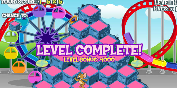 Tom and Jerry: Funny Park level completed