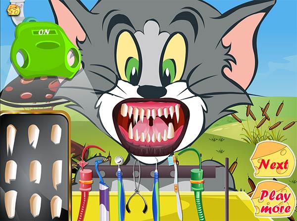 tom and jerry dentists: all teeth fixed!
